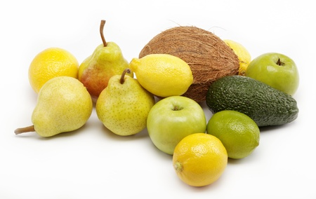 fruits isolated on a white background. photo