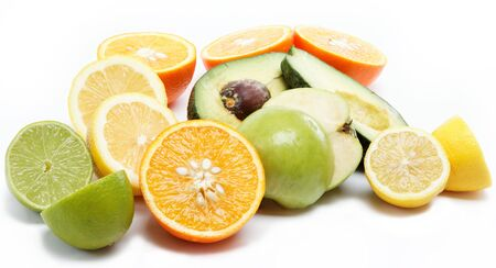 tropical fruits isolated on a white background. Stock Photo - 15050989