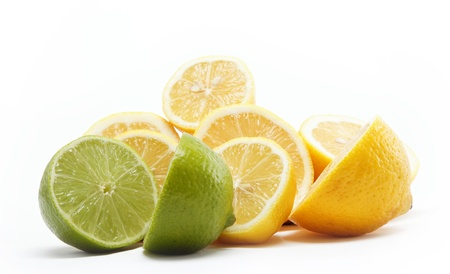 tropical fruits isolated on a white background. Stock Photo - 15050503