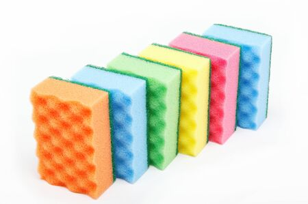 kitchen sponges isolated on a white background Stock Photo - 15092312