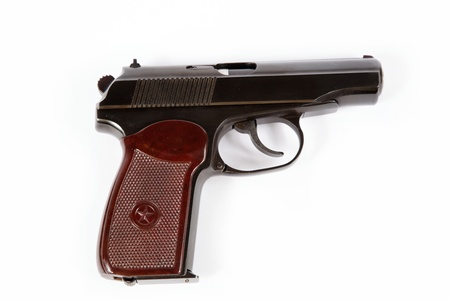 makarov system pistol isolated on white background Stock Photo - 15169458