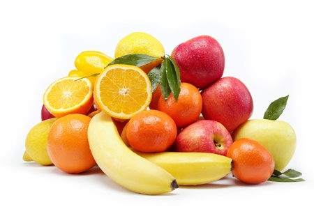 Fresh citrus fruits isolated on a white background. Stock Photo - 15168734