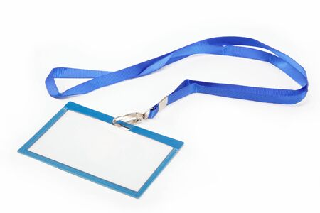 Name Tag with white background Standard-Bild