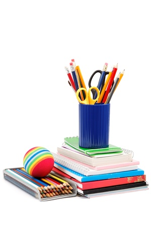 School and office supplies on white background. Back to school. Stock Photo - 17797927