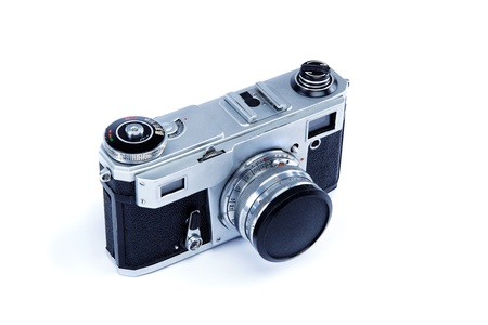 Old camera isolated on white background. photo