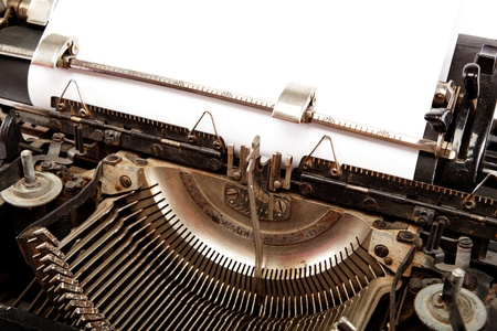 Old typewriter with a sheet of paper. Stock Photo - 17943961