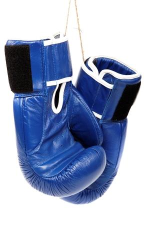 Boxing gloves isolated on white background. Stock Photo