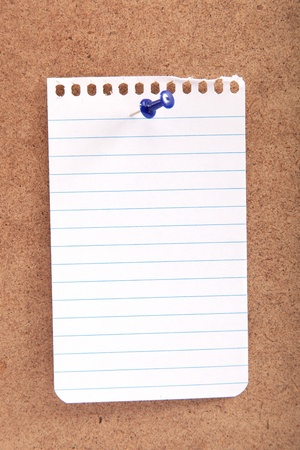 Blank note with button on a wooden board. Stock Photo - 18420108