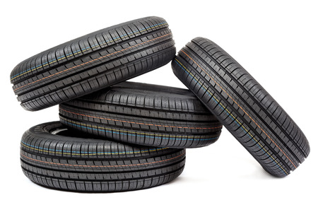 winter tire: Car tires isolated on white background.
