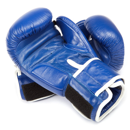 boxing tape: Boxing gloves and bandages isolated on a white background.
