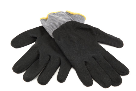working gloves: Working gloves isolated on a white background. Stock Photo