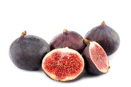 purgative: Figs isolated on white background.