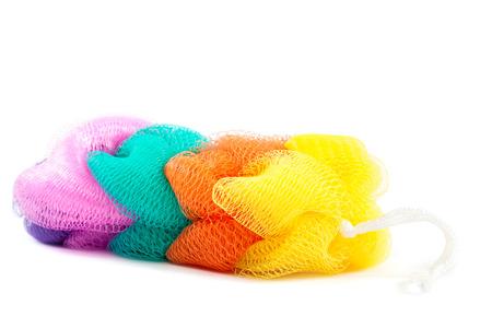 bast: Colorful bast isolated on white background. Stock Photo
