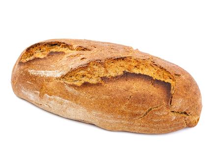 pain: Miche de pain isol� sur fond blanc. Banque d'images