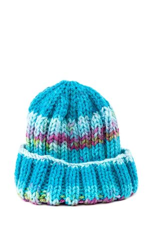 knitten: Cold winter clothing - knitted wool hat.