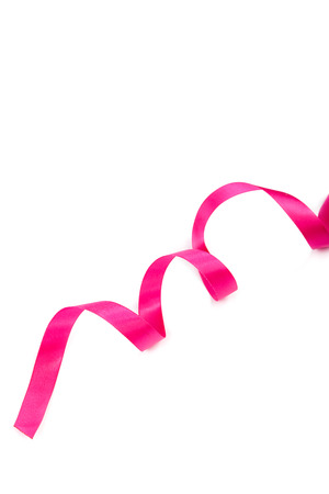 pink ribbon: Holiday pink ribbon isolated on white background.