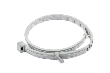 prophylactic: Collar for dogs and cats from fleas, lice and ticks isolated on white background. Therapeutic and prophylactic collar for pets.