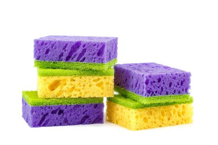 Sponges isolated on the a white background.