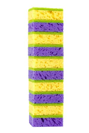 spongy: Sponges isolated on the a white background.
