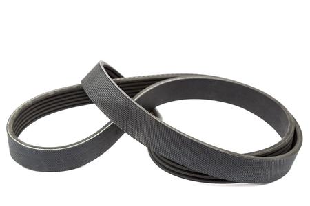 alternateur: Car alternator belt isolated on white background.