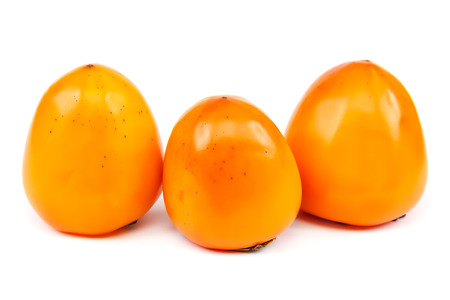 Persimmon fruit isolated on a white background.