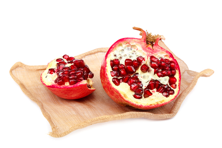 Pomegranate fruit isolated on a white background. Stock Photo