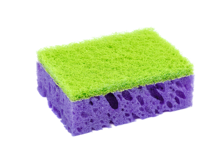Kitchen sponges isolated on a white background.