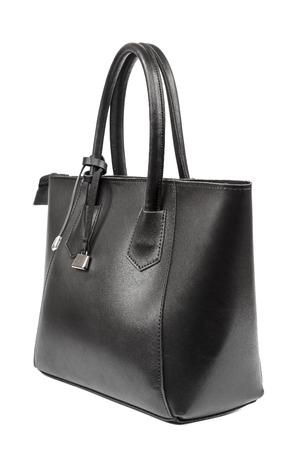 Fashionable women's handbag isolated on a white background. Stock Photo