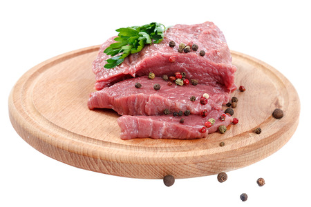 Meat fresh isolated on a white background. Stock Photo