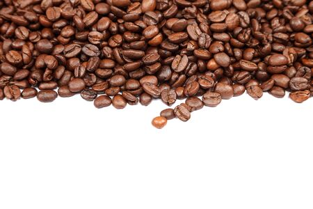 Coffee beans isolated on a white background. Reklamní fotografie
