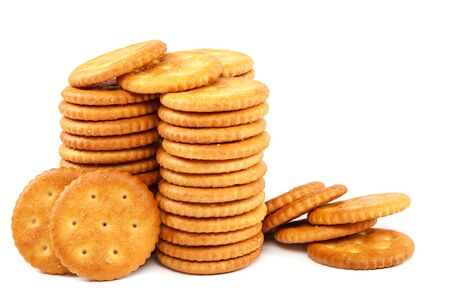 Tasty cookies isolated on a white background.