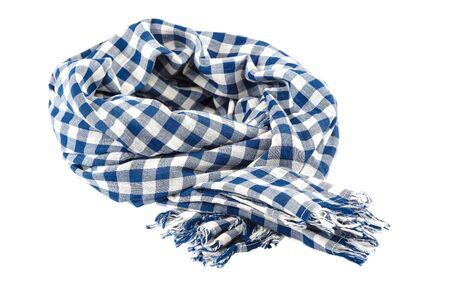 Colorful shawl scarf isolated on white background. Standard-Bild