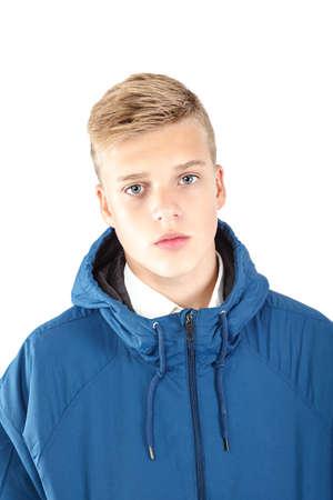 Stylish young guy isolated on white background. Standard-Bild