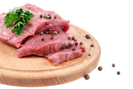 Meat fresh isolated on a white background.