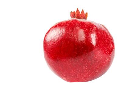 Pomegranate fruit isolated on the white background. Reklamní fotografie