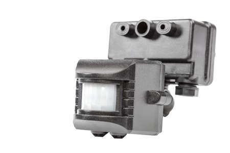 Motion sensor isolated on white background.