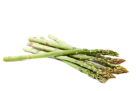 Fresh vegetables asparagus isolated on white background.