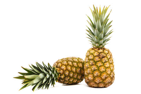 Fresh pineapple fruit isolated on a white background.