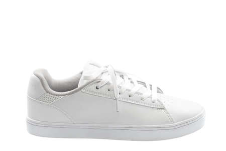 Stylish sneakers isolated on white background.