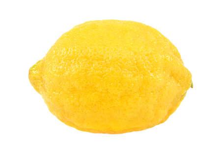 Fresh lemon fruit isolated on a white background.