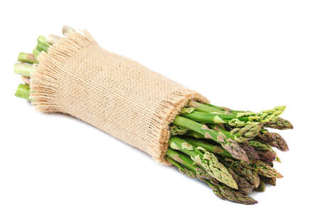 Fresh asparagus isolated on a white background.