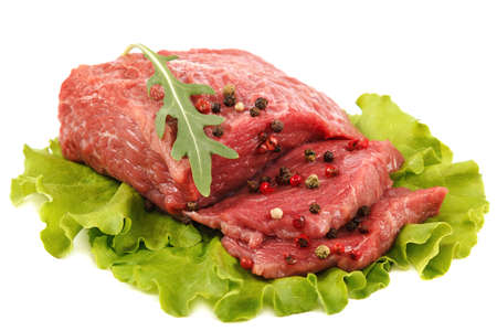 Meat fresh isolated on a white background. Standard-Bild