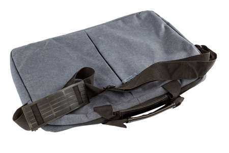 Laptop carrying bag isolated on a white background.