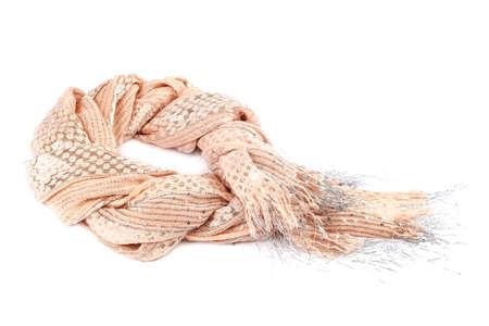 Colorful shawl scarf isolated on white background.