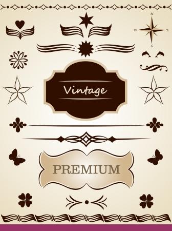 page decoration: Pagina decoratie-elementen Stock Illustratie