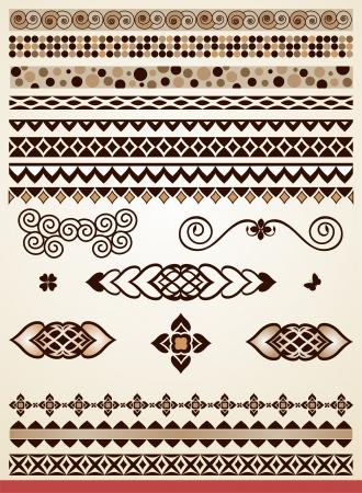 bordure de page: Intercalaires, les fronti�res et les d�corations