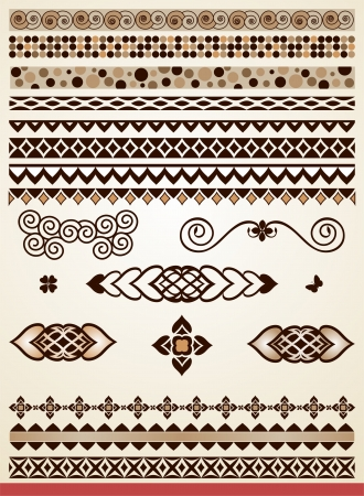 page border: Page dividers, borders and decorations Illustration