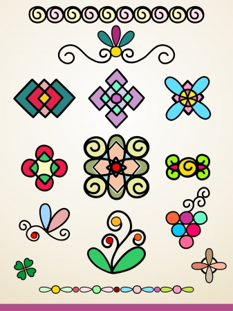 Doodle page dividers and decorations Vector
