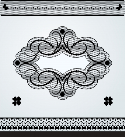 Lace ornamental frame and lace borders