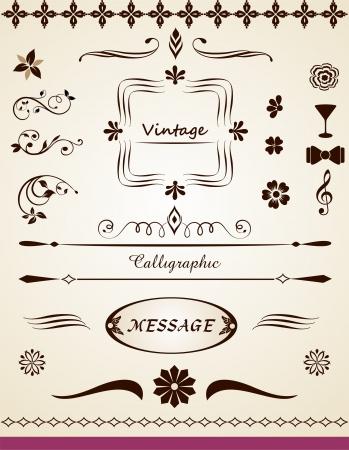 Pagina en de tekst decoraties